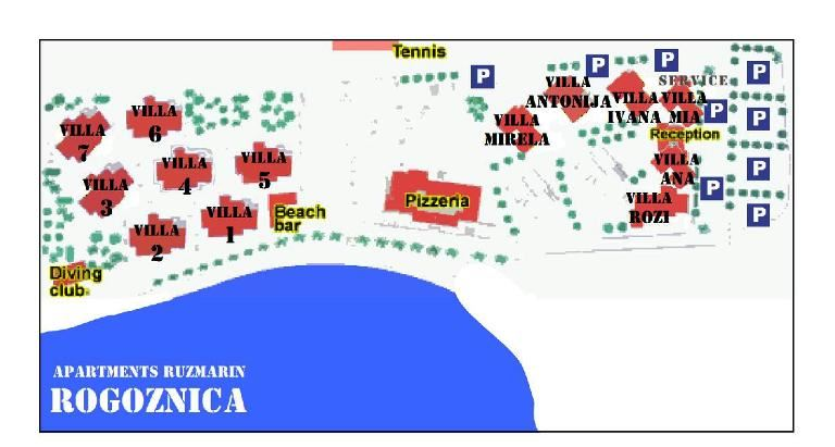 Ružmarin apartmánové středisko (vila Antonija, Mirella, Ivana)*** - BUS
